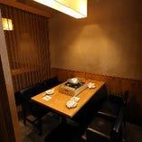 【個室完備】 ご宴会や会食に便利な半個室・完全個室多数