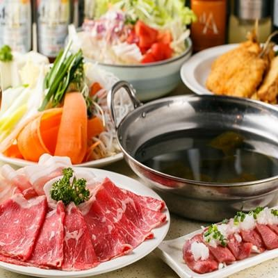 【2時間食べ放題×飲み放題付き】和牛・豚しゃぶしゃぶコース 4,700円!
