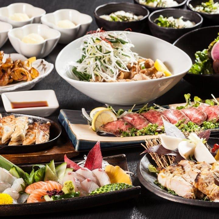 名物料理尽くしのTomoru 宴会コースは5,000円(税込)!