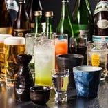 【豊富なドリンク】 プレミアム飲み放題なら地酒も飲み放題に♪