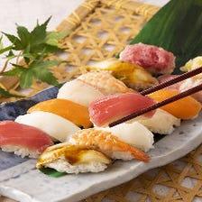 ▼オプションで寿司食べ放題!