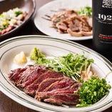 【肉料理も】低温調理の鴨のローストや熟成ハラミ