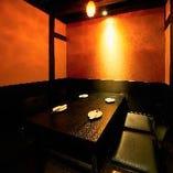 ゆったりとした上質な個室空間