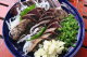 鰹のたたき!塩とニンニクで食べるのが土佐流です!
