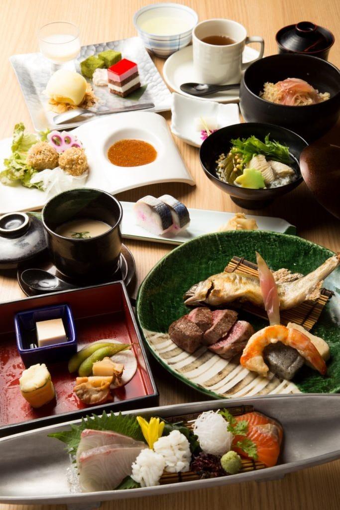 季節の食材をふんだんに使用した本格京会席。