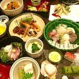 お値打ち本格会席が魅力。旬の魚と京野菜。湯葉や和牛、デザート