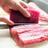 【旬魚】 料理長が選び抜いた鮮度抜群の魚介を匠の技でお刺身に