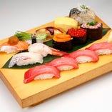 選抜極上にぎりセット Best Sushi Combo