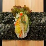 【New】アボカド&ベジ手巻き Avocado & Vegetable Hand Roll[Vegetarian]