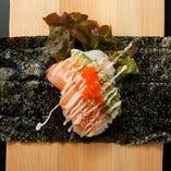 【New】サーモンアボカド手巻き Salmon Avocado Hand Roll