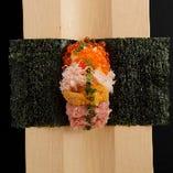 レインボー手巻き Rainbow Hand Roll-Itamae style-