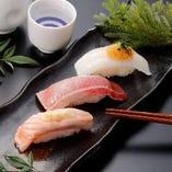 炙り3貫セット Broiled Nigiri 3 pieces