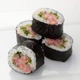 【New】ねぎとろ中巻き Minced Tuna with Green Onion Roll (medium)