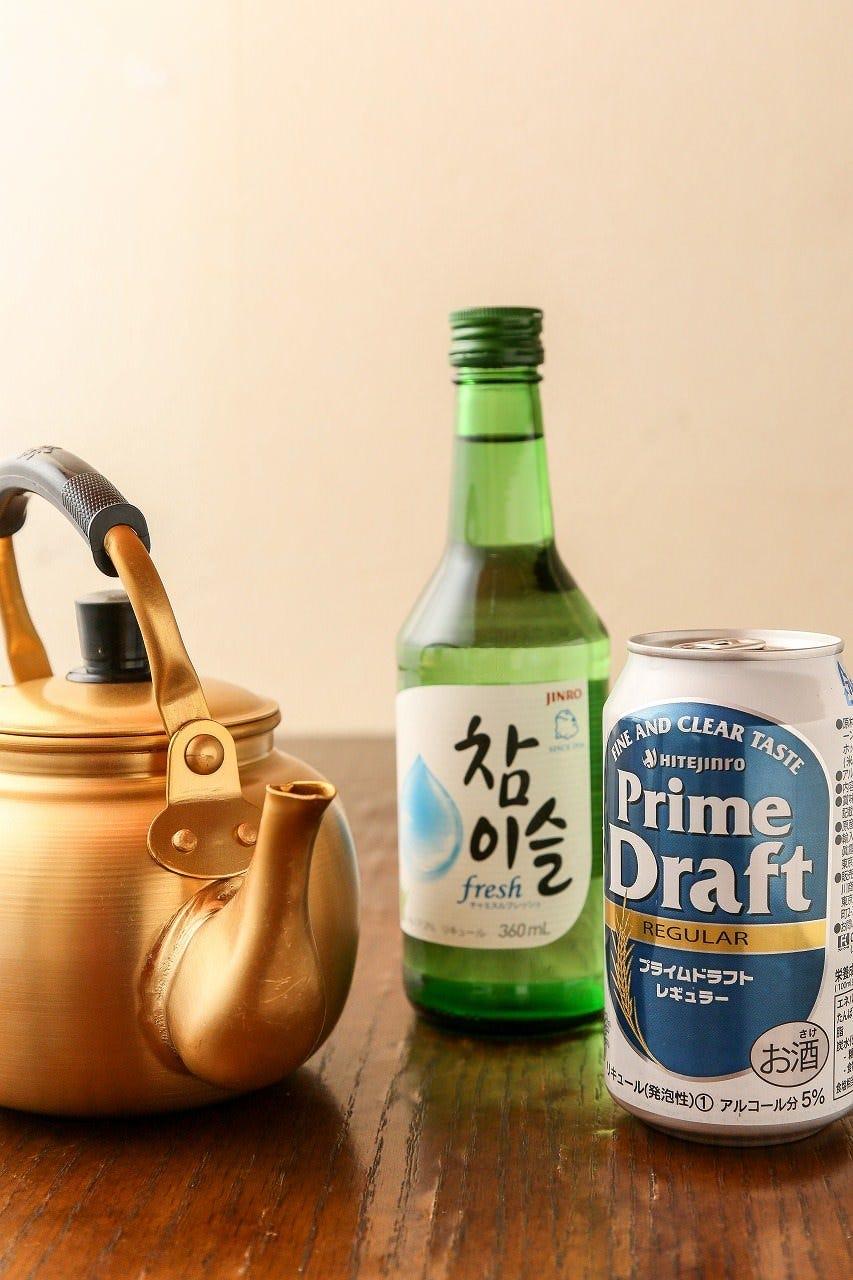本場韓国の料理には本場の飲み物を♪