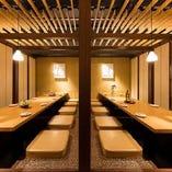 博多駅5分にあるどげん海では広々したお席をご用意しております