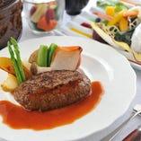 飛騨牛ステーキ ランチコース(自家製ハンバーグ)