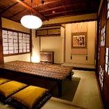 2階にあるこちらのお座敷個室は最大8名様までご利用頂けます。