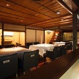 1階にあるこちらのスペースには4名様用テーブルが4卓あり、繋げると最大で20名様までのご宴会が可能です。