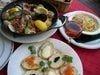 オードブル3品お魚、お肉料理、パスタ各種の、大皿料理です。