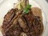お料理や、ワインベースのおソースが、とてもリッチ::デザートプレートも!!