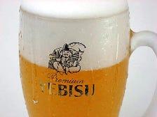 ビールはこだわりのヱビス樽生