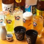 飲み放題メニューはなんと70種類!お酒好きの方に喜ばれています