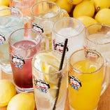 レモンサワーをはじめ多彩な酎ハイ・サワーもご提供!