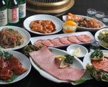 リーズナブルな焼肉コース4,200円 売れ筋NO1の韓国式カルビ付