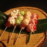 豚バラ肉の野菜巻串