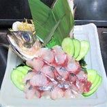 朝採れ鮮魚 アジの刺身