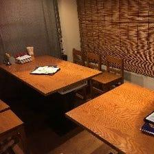 プライベート空間で過ごせる快適個室