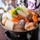 若鷄の水炊き鍋or寄せ鍋が選べる『賑わいコース』3,800円【1人鍋