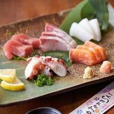 刺身や串、沖縄料理まで逸品料理