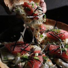 明太マヨとしらすのお餅PIZZA