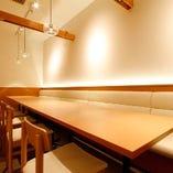 個室 テーブル席 4~6名様 ソーシャルディスタンス確保の為人数制限有り
