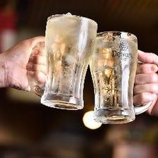 乾杯から始まる楽しい宴会!