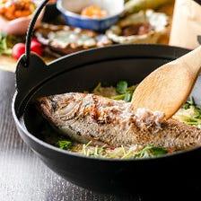 厳選した食材を使用した郷土料理の数々