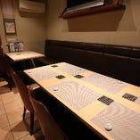 テーブル席半個室(~10名様)
