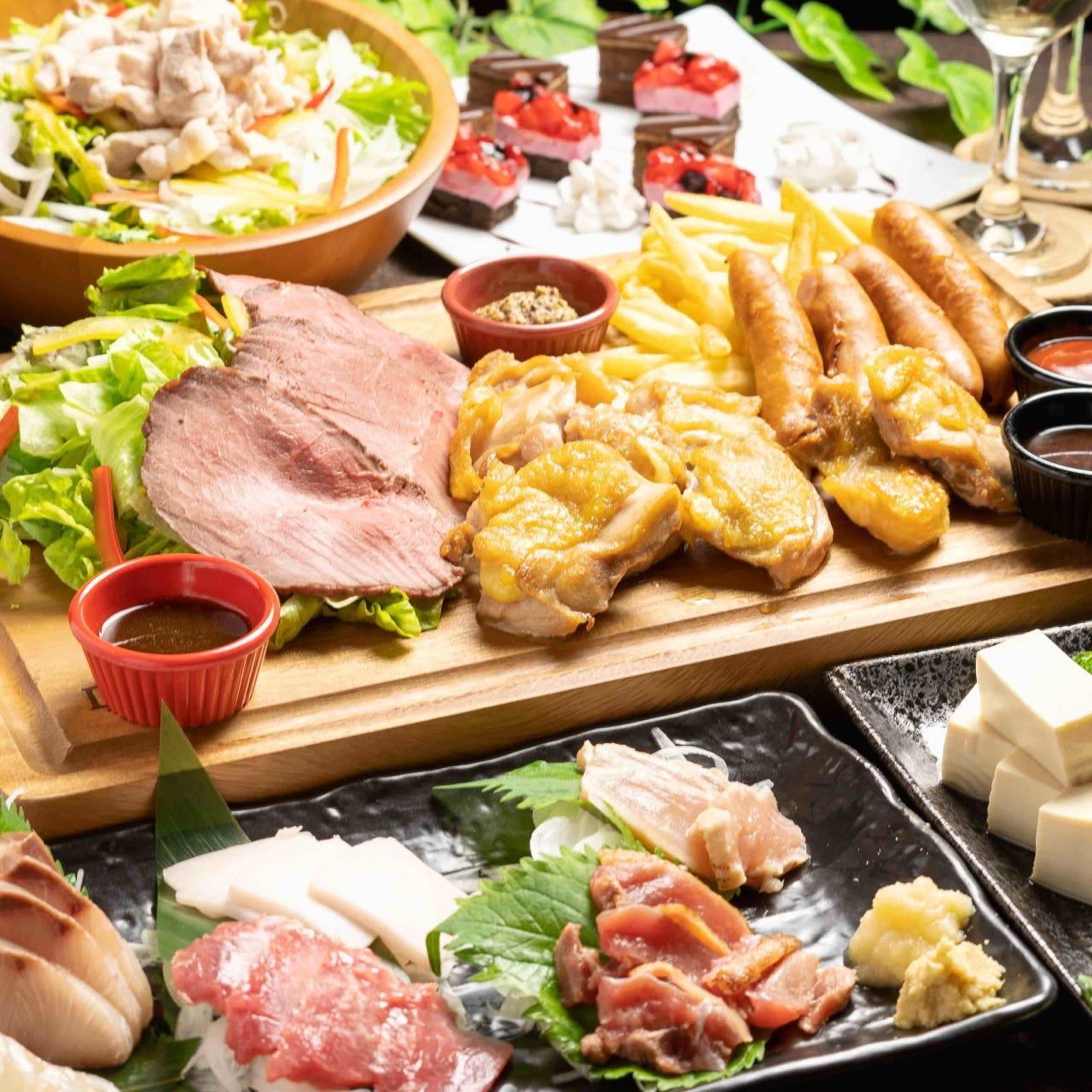 【蓮堪能】3時間飲み放題付!豪華選べるメインと九州料理味わい尽くしコース
