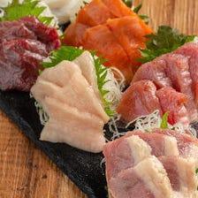 鮮魚と馬肉の食べ比べ~6点盛り~