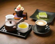 日本茶やバリスタが淹れるコーヒー