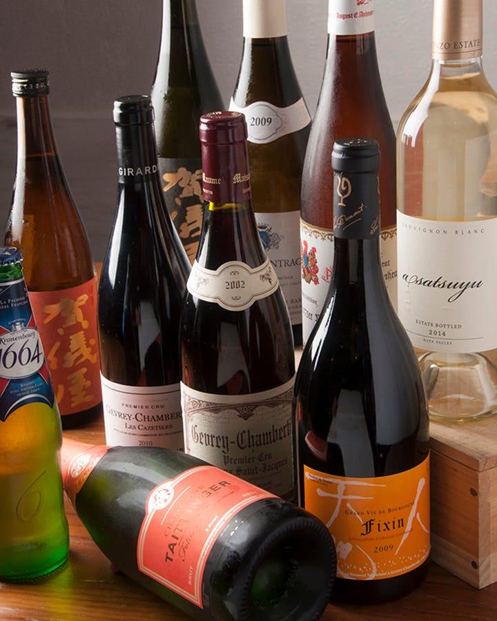 フレンチに合うワインや日本酒を厳選