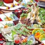 季節の美味しい味覚を味わう贅沢なコースをお楽しみ下さい。