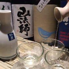 日本酒20種以上 全て1杯500円!!