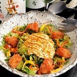 熊野地鶏の地鶏サラダ
