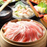 ・九州産豚のせいろ蒸し ⇒【+500円】で米澤豚にグレードUP