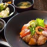 【ランチも営業しております】海鮮漬け丼定食