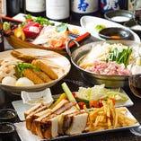 おつまみにも食事にも嬉しい『米澤豚のカツサンド』付きコースもございます