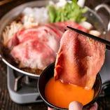 ・てっぱん牛すき焼き鍋 ⇒《+500円》でA5山形牛にグレードUP!