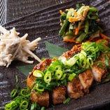 米澤豚ロースの生姜味噌焼き 九条ネギのせ